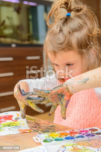 istock drawing by paints 483567436