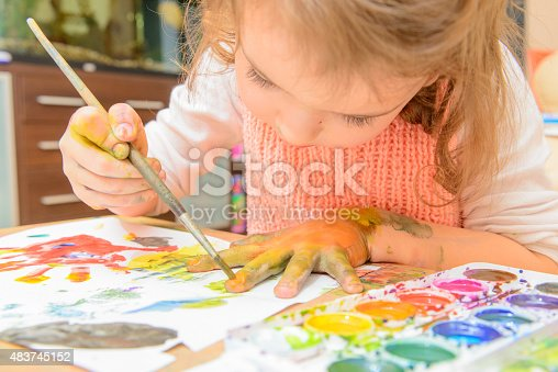 istock drawing by paints 483745152