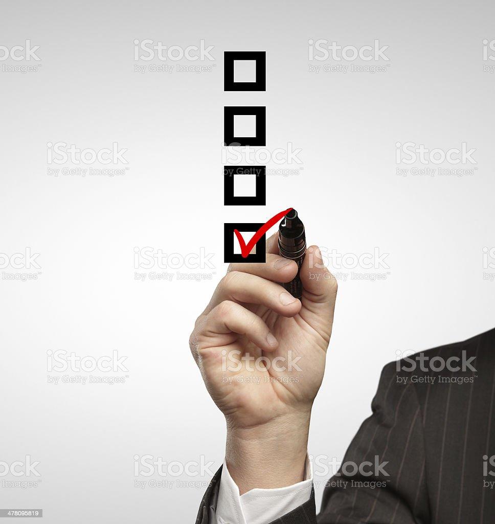 drawing check box royalty-free stock photo