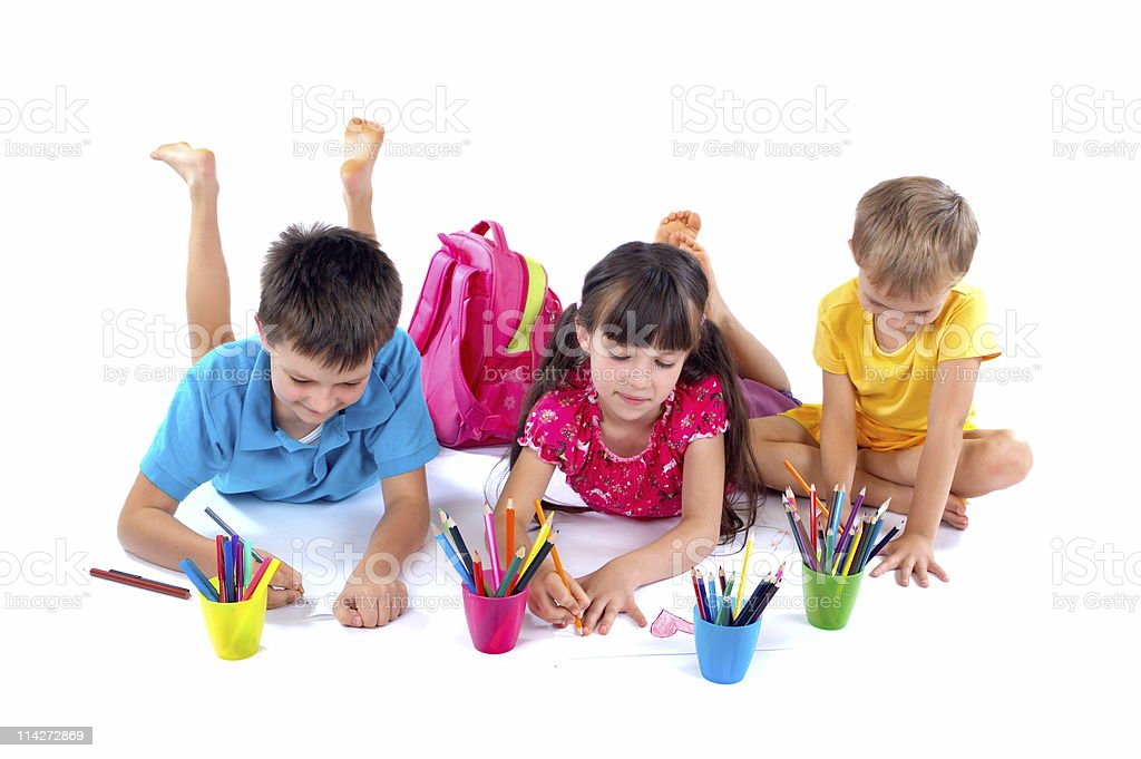 Drawing children royalty-free stock photo