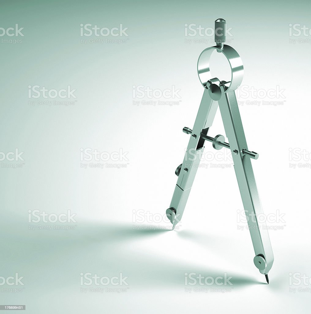 Drawing compass royalty-free stock photo