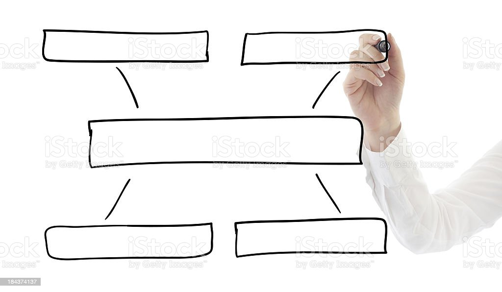 Drawing empty diagram royalty-free stock photo