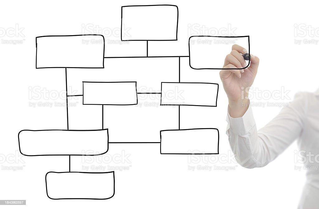 Drawing empty diagram stock photo