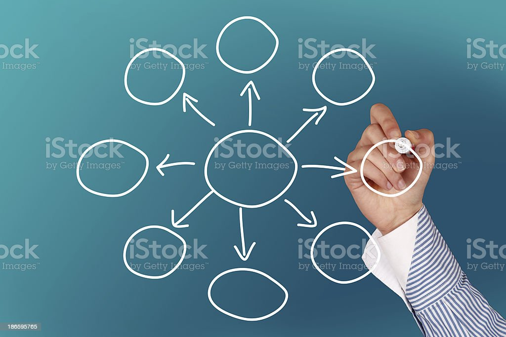Drawing empty diagram stock photo