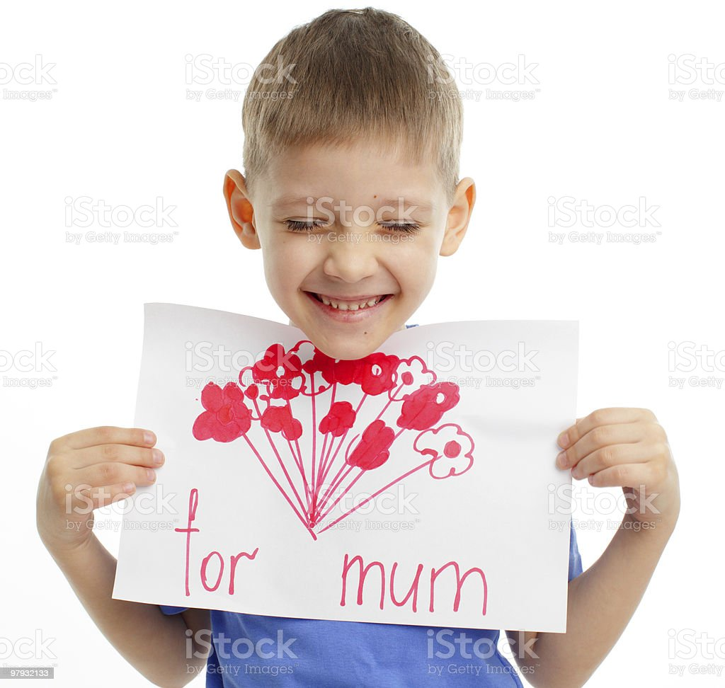 Drawing for mum royalty-free stock photo