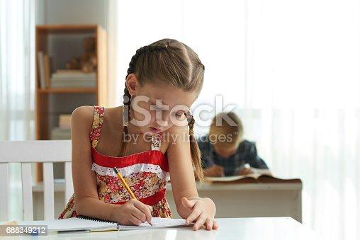 818512928istockphoto Drawing girl 688349212