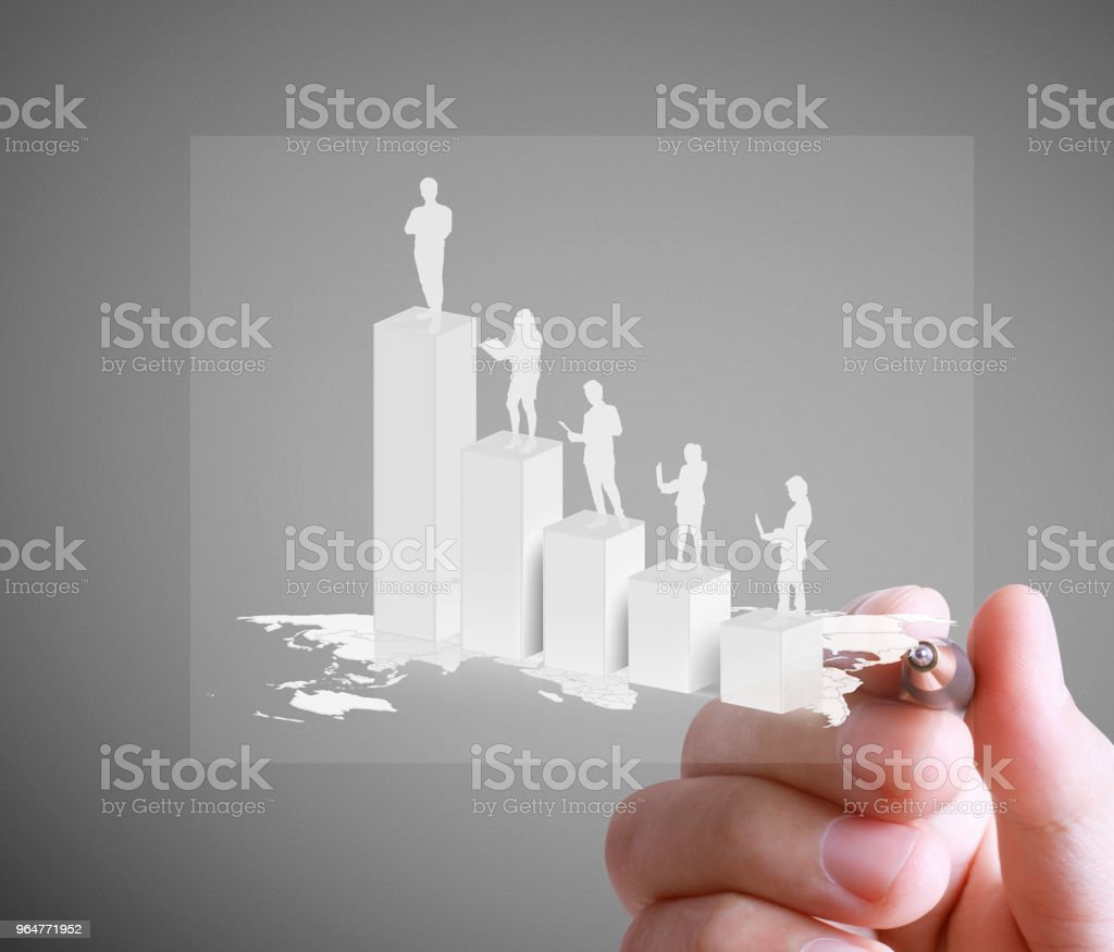 drawing graphics agrowing graph royalty-free stock photo