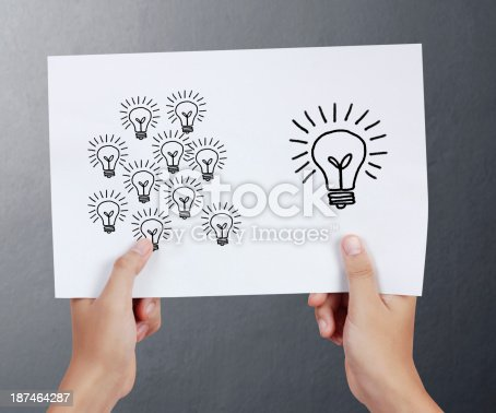 istock drawing light bulb in a4 187464287