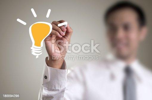 istock Drawing light bulb 185594295