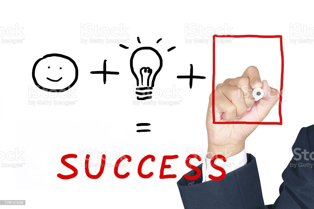 Drawing necessary thing for success stock photo