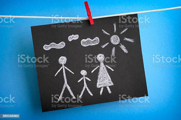 Drawing of a family on black piece of paper picture id585066860?b=1&k=6&m=585066860&s=612x612&h=d ufovf3 9klqxwj6ukalnaqq5bhro6xk3sxhceui1m=