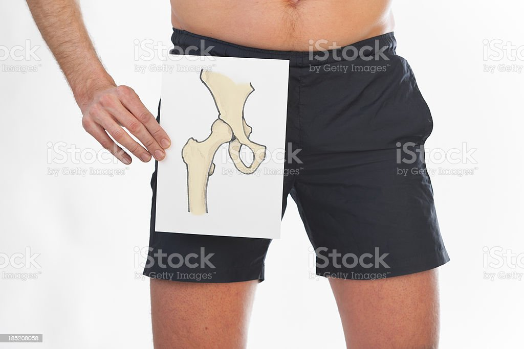 Drawing of a hip joint royalty-free stock photo