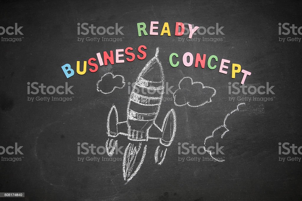 Drawing of a startup business concept stock photo