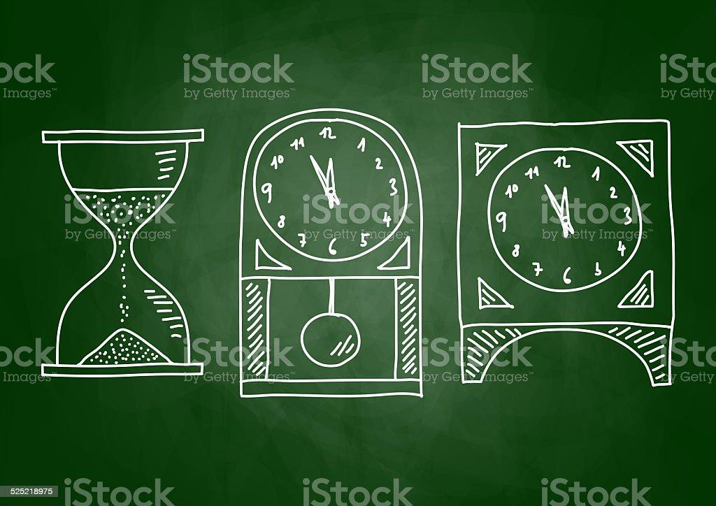 Drawing of clock stock photo