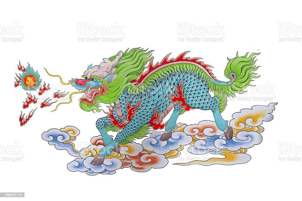 Disegno Di Drago Cinese Colorato Fotografie Stock E Altre Immagini