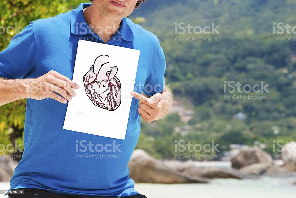 Drawing of heart royalty-free stock photo