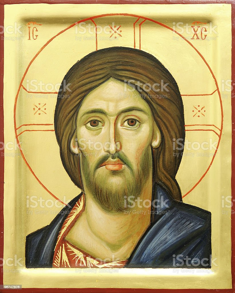 Drawing of the Lord Jesus Christ stock photo