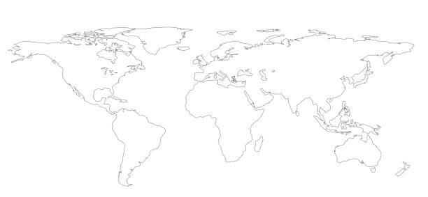 Royalty free world map outline pictures images and stock photos drawing outline world map isolated on white background infographics illustration stock photo gumiabroncs Images