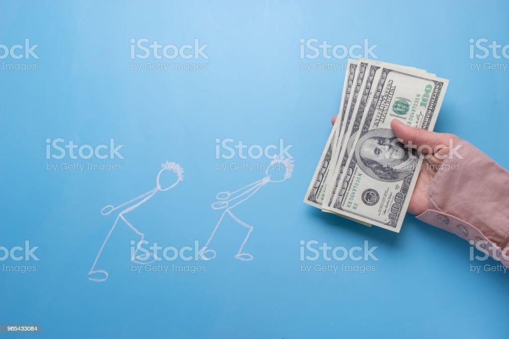 drawing people carry money zbiór zdjęć royalty-free