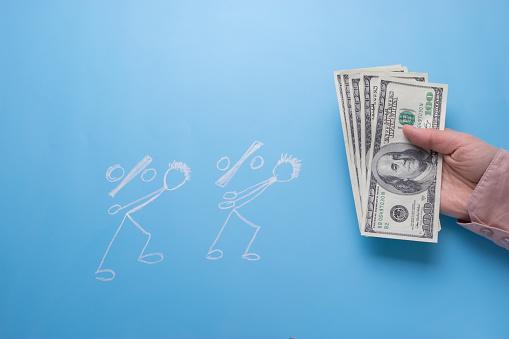 그리기 사람들 돈을 100에 대한 스톡 사진 및 기타 이미지