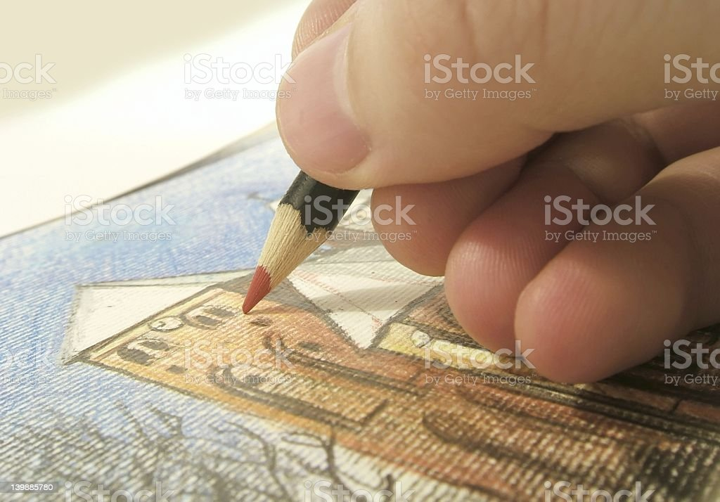 drawing picture royalty-free stock photo
