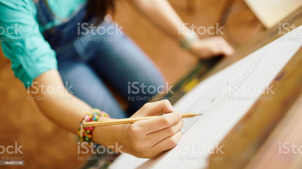 Drawing picture stock photo