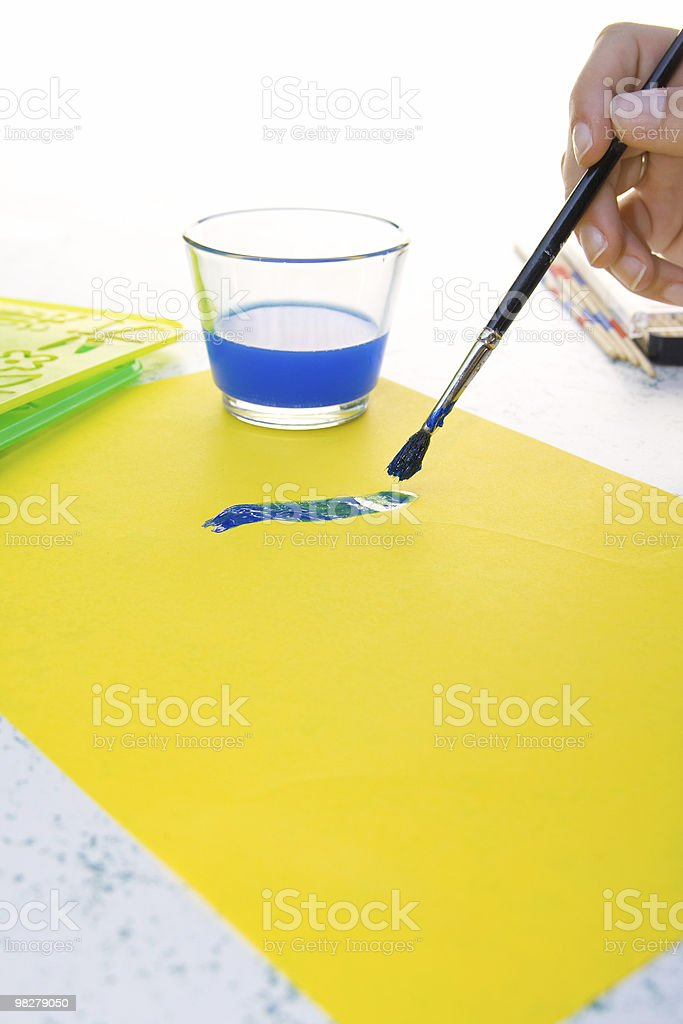 Drawing preparations royalty-free stock photo