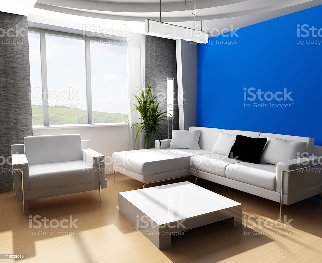 Drawing room 3d royalty-free stock photo