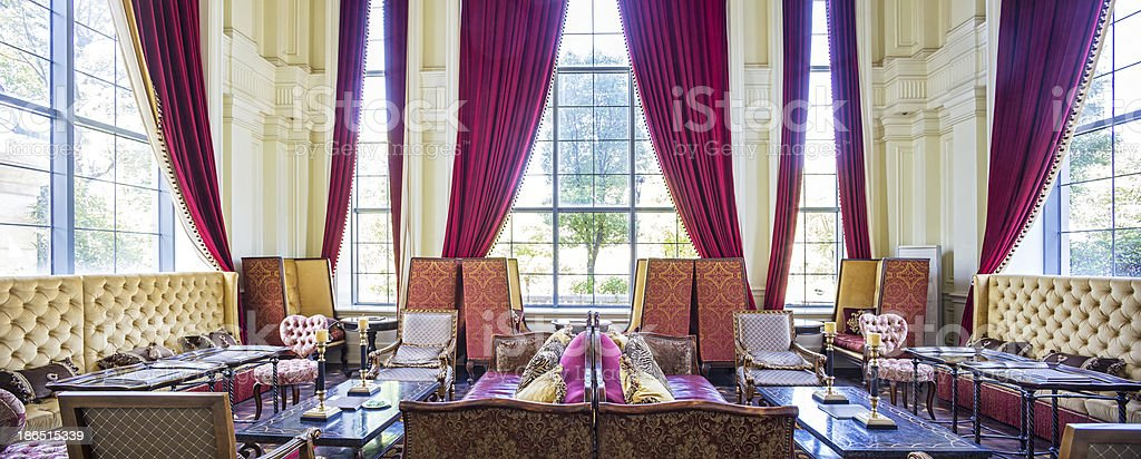 drawing room in villa royalty-free stock photo