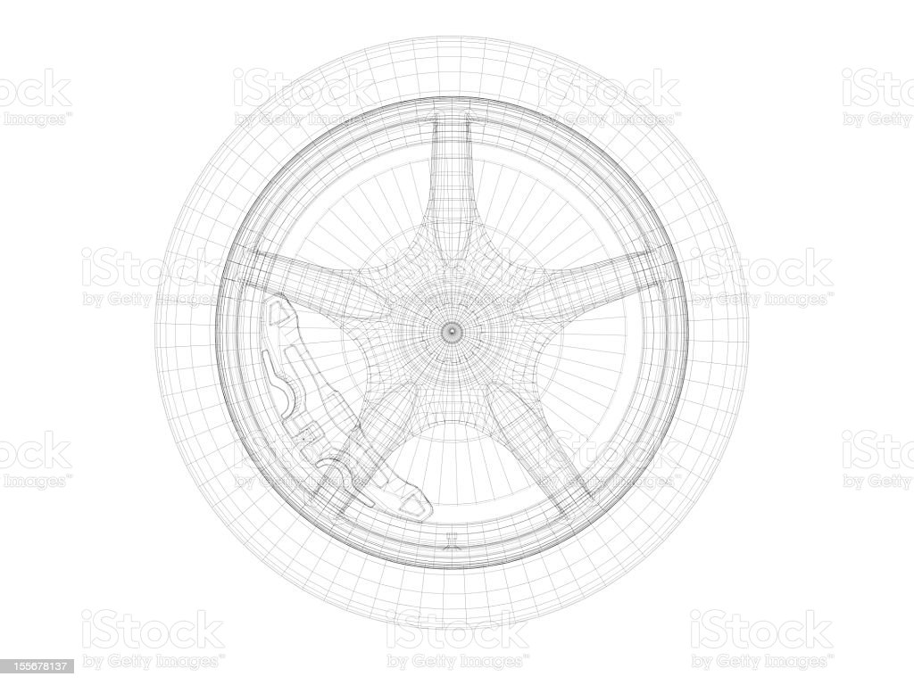 Drawing scheme of car wheel with rim tire and disk brake stock photo drawing scheme of car wheel with rim tire and disk brake royalty free stock malvernweather Choice Image