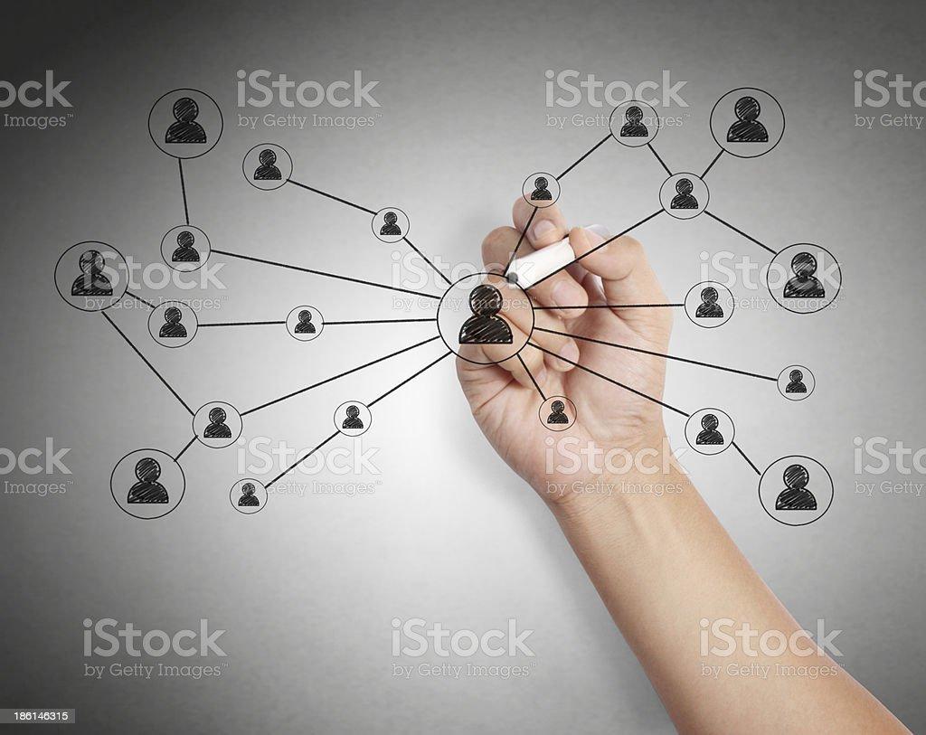 drawing social network stock photo