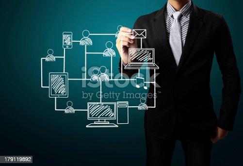522382893istockphoto drawing social network structure 179119892