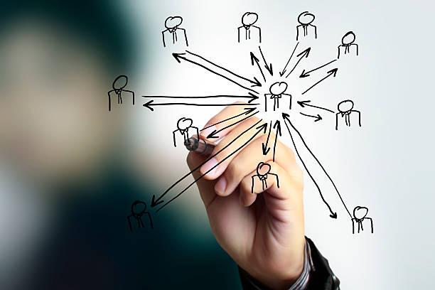 Zeichnung soziales Netzwerk-Struktur – Foto