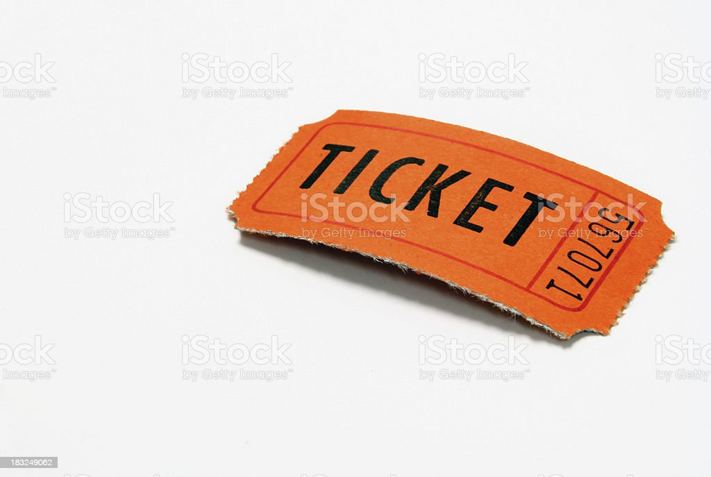 Drawing Ticket royalty-free stock photo