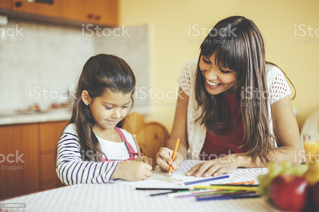Drawing together stock photo