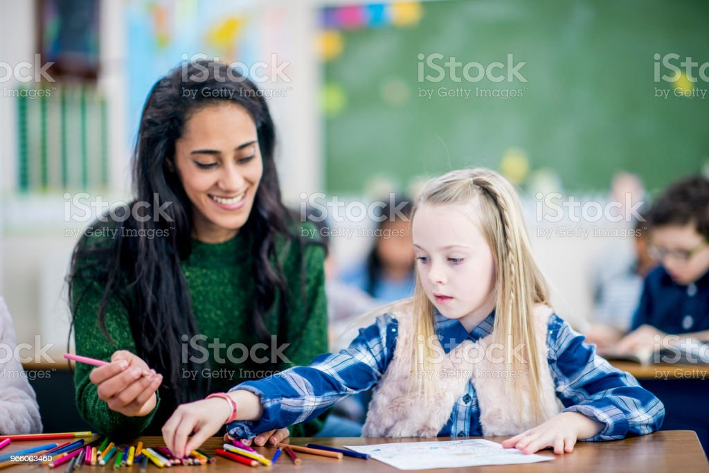 Drawing Together - Royalty-free 6-7 Years Stock Photo