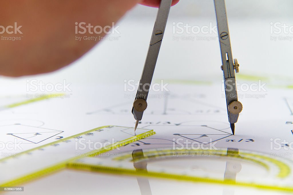 photo of the Drawing tools with compass