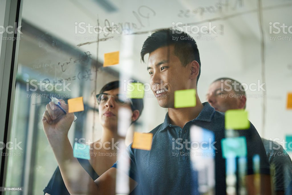 Drawing up the business plan stock photo