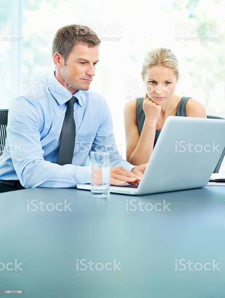 Drawing up the perfect business plan royalty-free stock photo