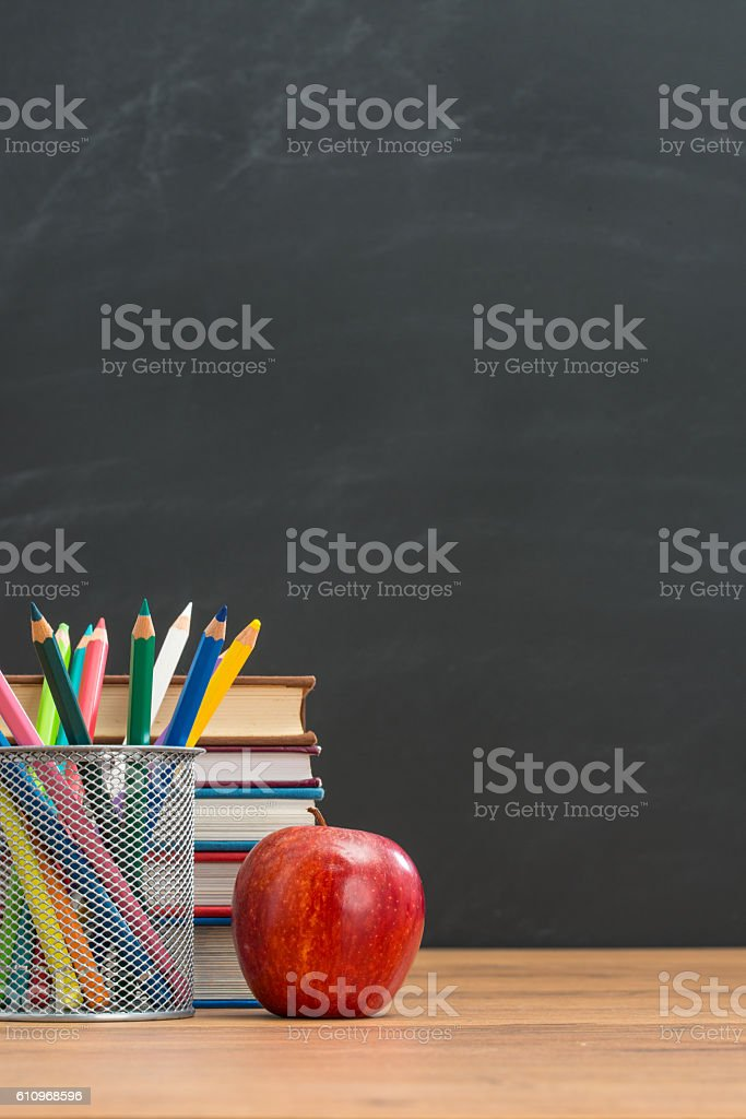 drawing when back to school so select the art class stock photo