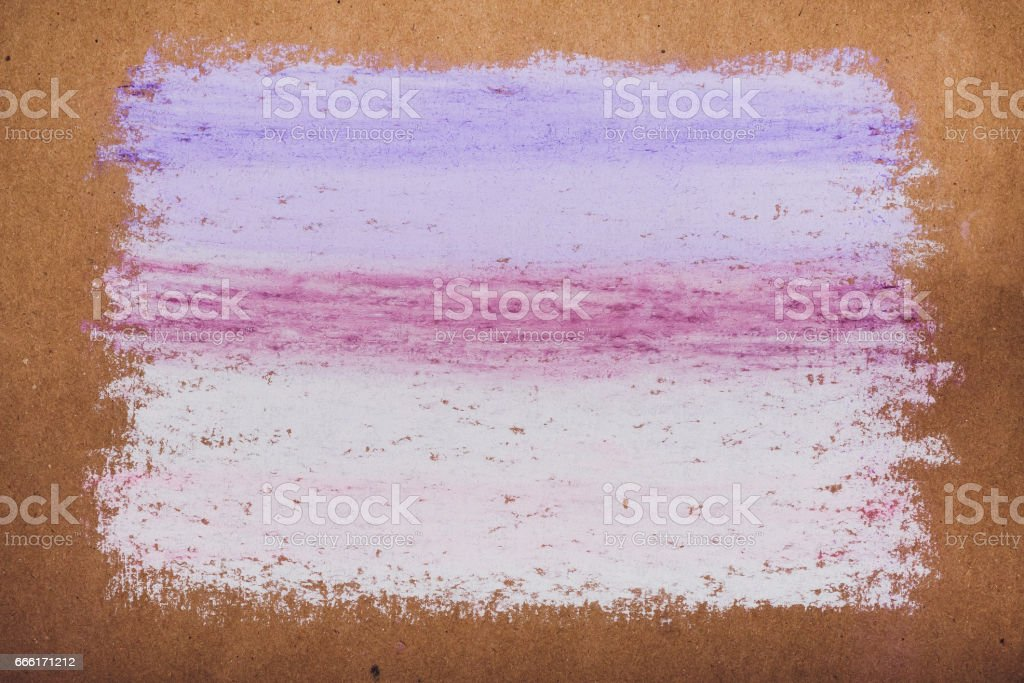Drawing with colorful chalk on kraft paper, backgrounds, textures stock photo