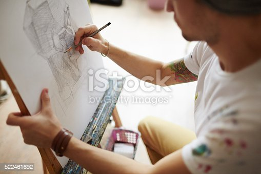 istock Drawing with pencil 522461692