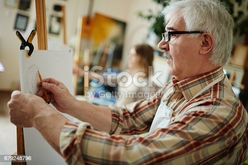 istock Drawing with pencil 679248796