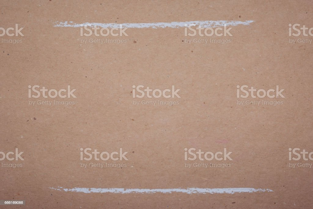 Drawing with white chalk on kraft paper - lines, backgrounds, textures stock photo