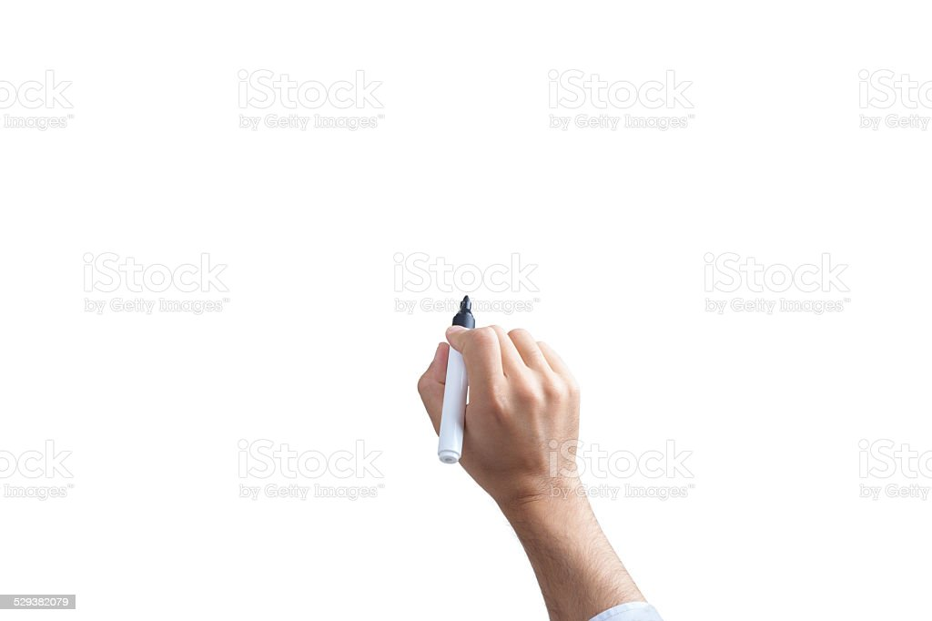 Drawing, Writing Hand Concept by Man view top side stock photo