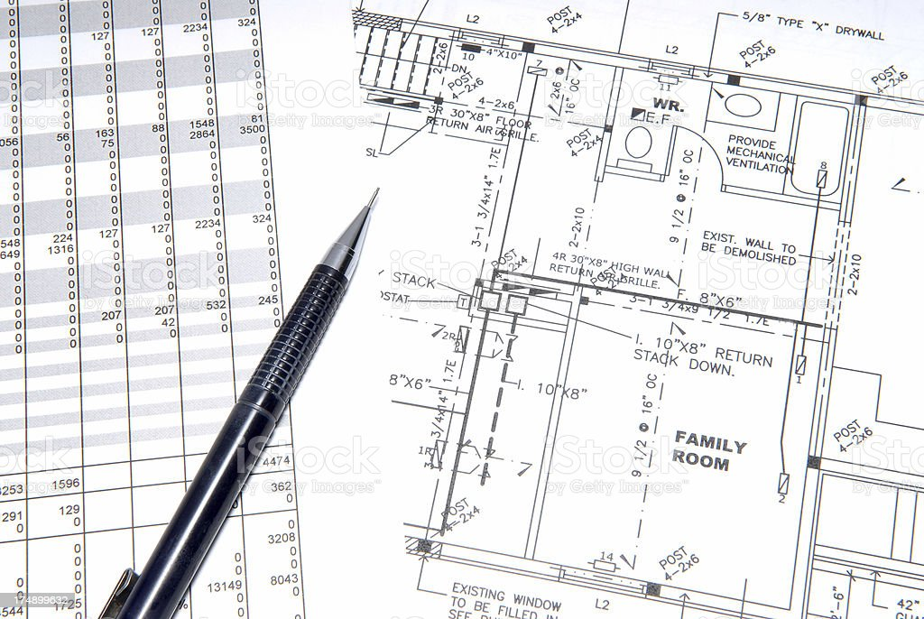Royalty Free Hvac Blueprints Pictures, Images and Stock