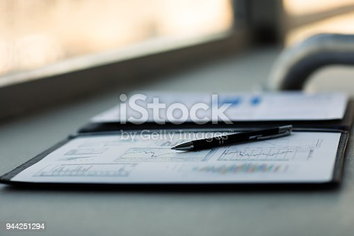 istock Drawings and charts of successful business 944251294