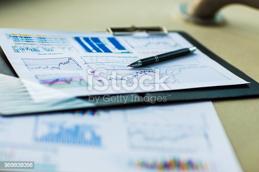 istock Drawings and charts of successful business 959938056