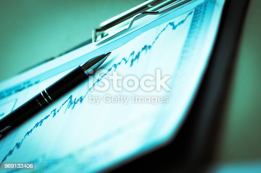 istock Drawings and charts of successful business 969133406