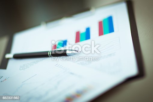 istock Drawings and diagrams and a handle on the workplace of the businessman 652331562